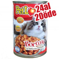 Pet Lovers - Pet Lovers Soslu Biftekli Kedi Konservesi 405 Gr-24 Al 20 Öde