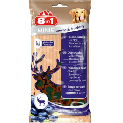 8in1 - 8in1 Minis Geyik ve Yaban Mersini Aperatif Köpek Ödülü 100 Gr