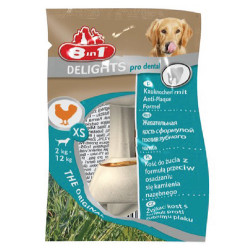 8in1 - 8in1 Delights Dental Bones Köpek Ağız Bakım Burgu Kemiği XS 12 Gr