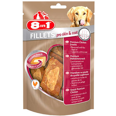 8in1 Fillets Pro Skin Coat Deri ve Tüy Sağlığı Köpek Ödülü 80 Gr