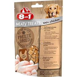 8in1 - 8in1 Meaty Treats 661439 Tavuk Etli Kurutulmuş Tahılsız Köpek Ödülü 50 Gr