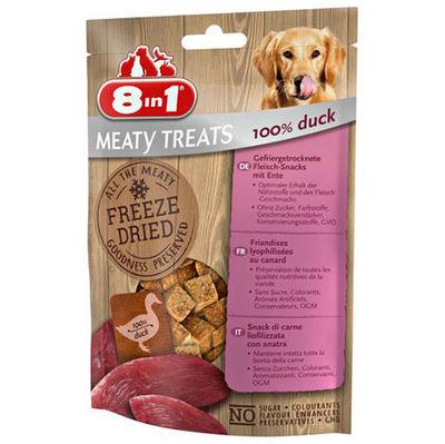 8in1 Meaty Treats 661440 Ördek Etli Kurutulmuş Tahılsız Köpek Ödülü 50 Gr