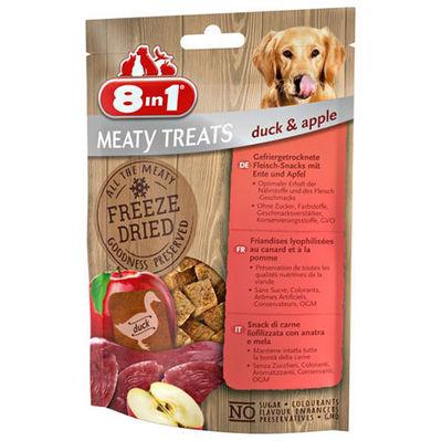 8in1 Meaty Treats 661443 Ördek Etli ve Elma Kurutulmuş Tahılsız Köpek Ödülü 50 Gr