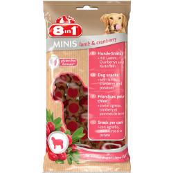 8in1 - 8in1 Minis Kuzu Eti/Kızılcık Glutensiz Köpek Ödülü 100 Gr