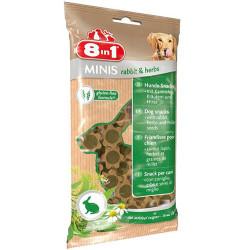 8in1 - 8in1 Minis Tavşan ve Taze Yeşillikler İçeren Köpek Ödülü 100 Gr