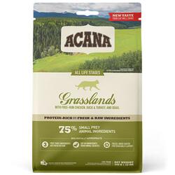 Acana - Acana Grasslands Ördek ve Bıldırcın Tahılsız Kedi Maması 1,8 Kg+2 Adet Temizlik Mendili