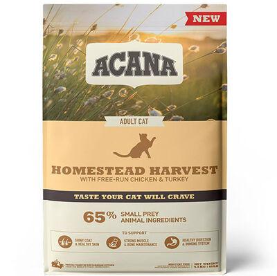 Acana Homestead Harvest Yetişkin Kedi Maması 4,5 Kg + 10 Adet Temizlik Mendili