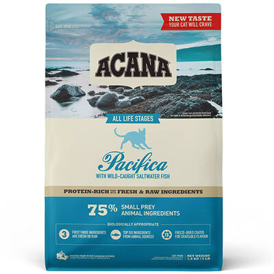 Acana Pacifica Cat Tahılsız Balıklı Kedi Maması 1,8 Kg + 5 Adet Temizlik Mendili