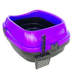 Diğer / Other - Açık Kedi Tuvalet Kabı Kürekli Mor 49,5x40x22 Cm