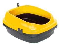 Diğer / Other - Açık Kedi Tuvalet Kabı Kürekli Sarı 49,5 x 40 x 22 Cm
