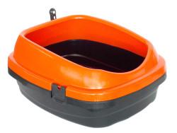 Diğer / Other - Açık Kedi Tuvalet Kabı Kürekli Turuncu 49,5 x 40 x 22 Cm