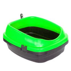 Diğer / Other - Açık Kedi Tuvalet Kabı Kürekli Yeşil 49,5 x 40 x 22 Cm