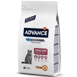 Advance - Advance +10 Sterilised Yaşlı Kısırlaştırılmış Kedi Maması 1,5 Kg+2 Adet Temizlik Mendili