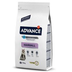 Advance - Advance Hairball Tüy Yumağı Kontrol Kedi Maması 1,5 Kg+5 Adet Temizlik Mendili