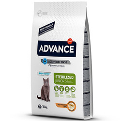 Advance - Advance Junior Kısırlaştırılmış Yavru Kedi Maması 10 Kg + 5 Adet Temizlik Mendili