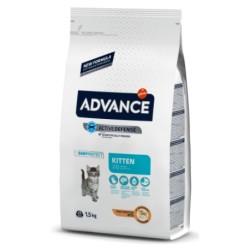 Advance - Advance Kitten Yavru Tavuk Etli Kedi Maması 1.5 Kg + 2 Adet Temizlik Mendili