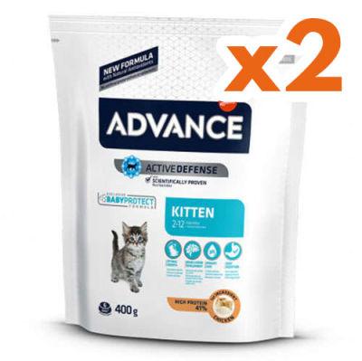 Advance Kitten Yavru Tavuk Etli Kedi Maması 400 + 400 Gr (800 Gr)