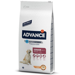 Advance - Advance Maxi Senior Büyük Irk Yaşlı Köpek Maması 14 Kg + 5 Adet Temizlik Mendili