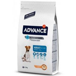 Advance - Advance Mini Küçük Irk Tavuklu Köpek Maması 3 Kg + 2 Adet Temizlik Mendili