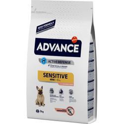 Advance - Advance Mini Sensitive Somonlu Küçük Irk Köpek Maması 3 Kg+2 Adet Temizlik Mendili