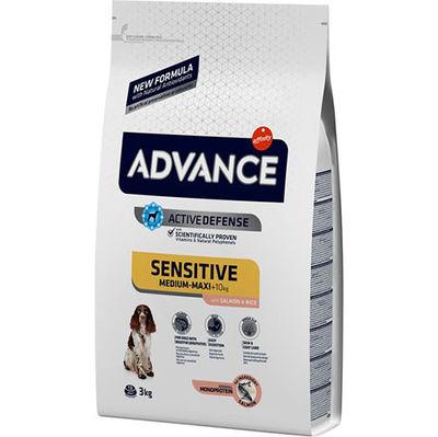 Advance Sensitive Hassas Deri Somon Köpek Maması 3 Kg+2 Adet Temizlik Mendili
