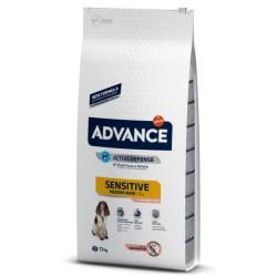 Advance - Advance Sensitive Hassas Somonlu Köpek Maması 12 Kg + 5 Adet Temizlik Mendili