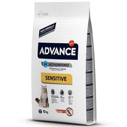 Advance - Advance Sensitive Somonlu Kedi Maması 10 Kg + 5 Adet Temizlik Mendili