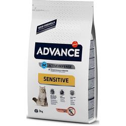 Advance - Advance Sensitive Somonlu Yetişkin Kedi Maması 3 Kg + 5 Adet Temizlik Mendili