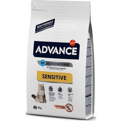 Advance Sensitive Somonlu Yetişkin Kedi Maması 3 Kg+5 Adet Temizlik Mendili