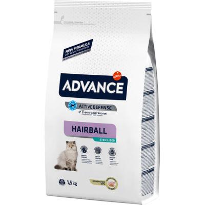 Advance Sterilised Hairball Kısırlaştırılmış Kedi Maması 1,5 Kg + 2 Adet Temizlik Mendili