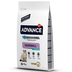 Advance - Advance Sterilised Hairball Kısırlaştırılmış Kedi Maması 10 Kg + 5 Adet Temizlik Mendili