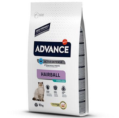 Advance Sterilised Hairball Kısırlaştırılmış Kedi Maması 10 Kg + 5 Adet Temizlik Mendili