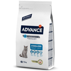 Advance - Advance Sterilized Kısırlaştırılmış Hindili Kedi Maması 1,5 Kg+5 Adet Temizlik Mendili
