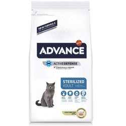 Advance - Advance Sterilized Kısırlaştırılmış Hindili Kedi Maması 15 Kg+5 Adet Temizlik Mendili