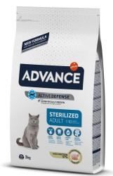 Advance - Advance Sterilized Kısırlaştırılmış Hindili Kedi Maması 3 Kg + 5 Adet Temizlik Mendili