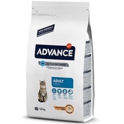 Advance - Advance Tavuk Etli Yetişkin Kedi Maması 1,5 Kg + 2 Adet Temizlik Mendili