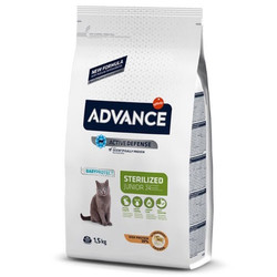 Advance - Advance Young Kısırlaştırılmış Yavru Kedi Maması 1,5 Kg+5 Adet Temizlik Mendili