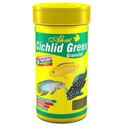 Ahm - AHM Cichlid Green Granulat Balık Yemi 100 ML