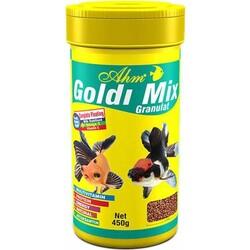 Ahm - AHM Goldi Mix Granulat Balık Yemi 250 ML