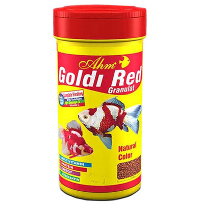 AHM Goldi Red Granulat Japon Balık Yemi 100 ML