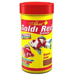 Ahm - AHM Goldi Red Granulat Japon Balık Yemi 250 ML