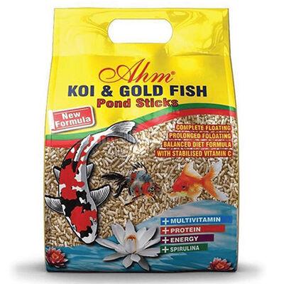 AHM Natural Pond Mix Sticks Koi Ve Japon Balığı Yemi 1000 Gr