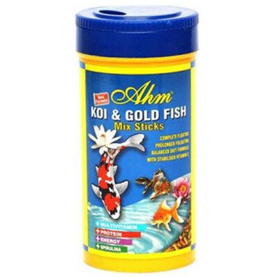 AHM Pond Mix Sticks Koi ve Japon Balığı Yemi 250 ML