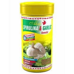 Ahm - AHM Spirulina ve Garlic Granulat Balık Yemi 250 ML