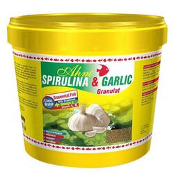 Ahm - AHM Spirulina ve Garlic Granulat Balık Yemi 3000 Gr