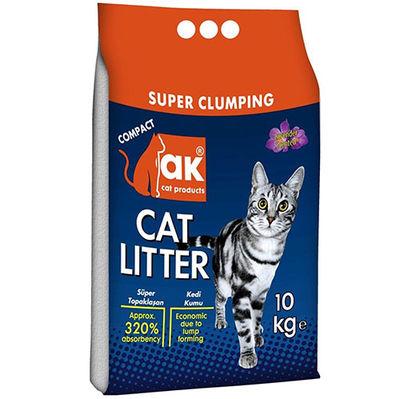 Akkum Doğal İnce Taneli Lavantalı Kedi Kumu 10 Kg
