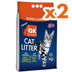 Akkum - Akkum Doğal Kalın Taneli Lavantalı Kedi Kumu 10 Kg x 2 Adet