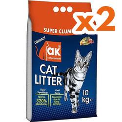 Akkum - Akkum Doğal Kalın Taneli Marsilya Kedi Kumu 10 Kg x 2 Adet