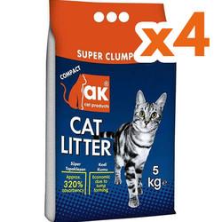 Akkum - Akkum Doğal Kalın Taneli Marsilya Kedi Kumu 5 Kg x 4 Adet