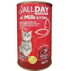 Allday - Allday all-Milk Kitten Yavru Kedi Süt Tozu 200 Gr+Biberon